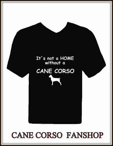 "T-Shirt mit Druck "" It´s not a Home without a Cane Corso"" und Silhouette"